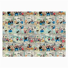 Old comic strip Large Glasses Cloth (2-Side)