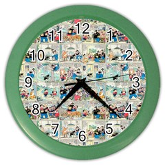 Old comic strip Color Wall Clocks