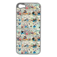 Old comic strip Apple iPhone 5 Case (Silver)