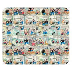 Old comic strip Double Sided Flano Blanket (Small)