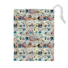 Old comic strip Drawstring Pouches (Extra Large)