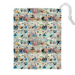 Old comic strip Drawstring Pouches (XXL)