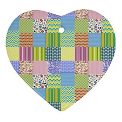 Old Quilt Ornament (Heart)