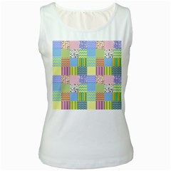 Old Quilt Women s White Tank Top