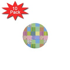 Old Quilt 1  Mini Buttons (10 pack)