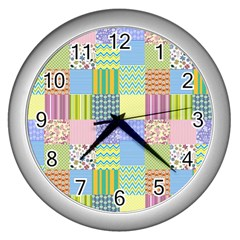 Old Quilt Wall Clocks (Silver)