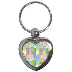 Old Quilt Key Chains (Heart)