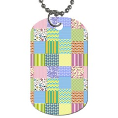 Old Quilt Dog Tag (Two Sides)