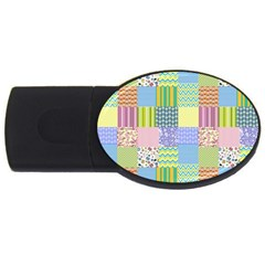Old Quilt USB Flash Drive Oval (4 GB)