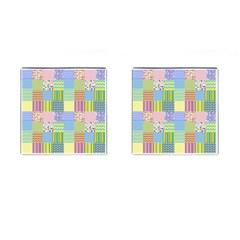 Old Quilt Cufflinks (Square)