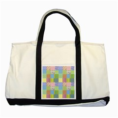 Old Quilt Two Tone Tote Bag