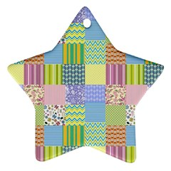 Old Quilt Star Ornament (Two Sides)