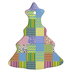 Old Quilt Christmas Tree Ornament (Two Sides)