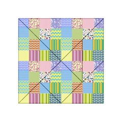 Old Quilt Acrylic Tangram Puzzle (4  x 4 )