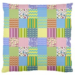 Old Quilt Large Cushion Case (One Side)