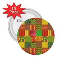 Old Quilt 2.25  Buttons (10 pack)