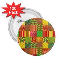 Old Quilt 2.25  Buttons (100 pack)