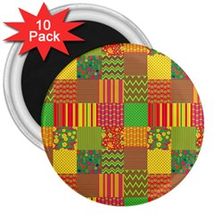 Old Quilt 3  Magnets (10 pack)