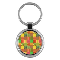 Old Quilt Key Chains (Round)