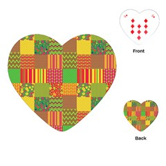 Old Quilt Playing Cards (Heart)