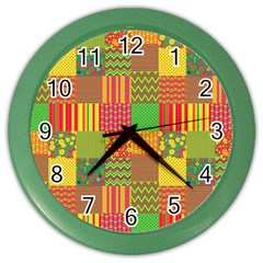 Old Quilt Color Wall Clocks