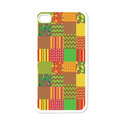 Old Quilt Apple iPhone 4 Case (White)