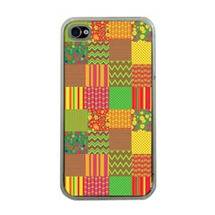 Old Quilt Apple iPhone 4 Case (Clear)