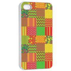 Old Quilt Apple iPhone 4/4s Seamless Case (White)