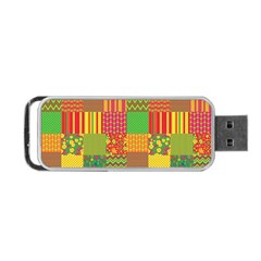 Old Quilt Portable USB Flash (Two Sides)