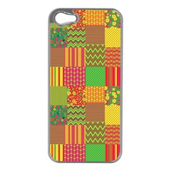 Old Quilt Apple iPhone 5 Case (Silver)