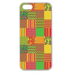 Old Quilt Apple Seamless iPhone 5 Case (Clear)