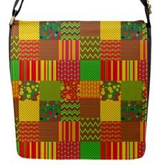 Old Quilt Flap Messenger Bag (S)