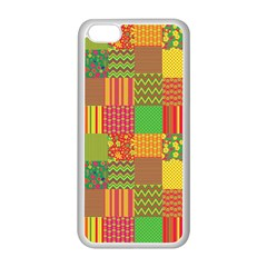 Old Quilt Apple iPhone 5C Seamless Case (White)