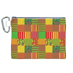 Old Quilt Canvas Cosmetic Bag (XL)
