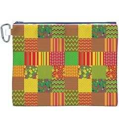 Old Quilt Canvas Cosmetic Bag (XXXL)