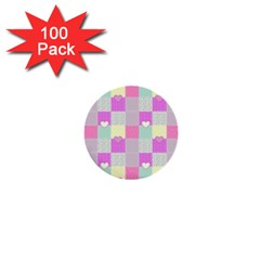 Old Quilt 1  Mini Buttons (100 pack)