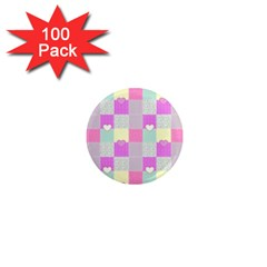 Old Quilt 1  Mini Magnets (100 pack)