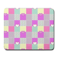 Old Quilt Large Mousepads