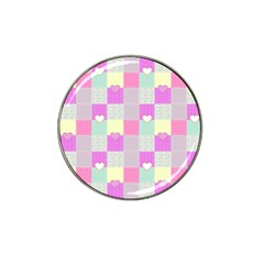 Old Quilt Hat Clip Ball Marker (4 pack)