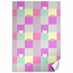 Old Quilt Canvas 12  x 18