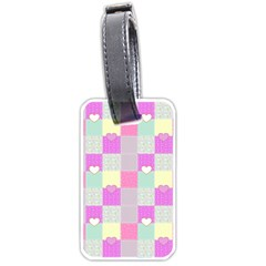 Old Quilt Luggage Tags (Two Sides)