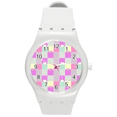 Old Quilt Round Plastic Sport Watch (M)