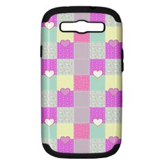 Old Quilt Samsung Galaxy S III Hardshell Case (PC+Silicone)