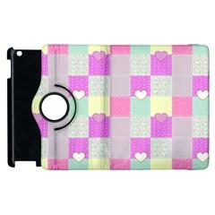 Old Quilt Apple iPad 2 Flip 360 Case