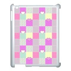 Old Quilt Apple iPad 3/4 Case (White)
