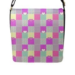 Old Quilt Flap Messenger Bag (L)