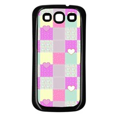 Old Quilt Samsung Galaxy S3 Back Case (Black)