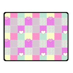 Old Quilt Double Sided Fleece Blanket (Small)