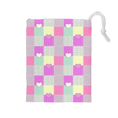 Old Quilt Drawstring Pouches (Large)
