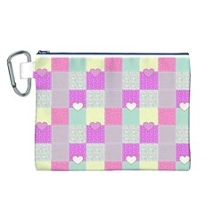 Old Quilt Canvas Cosmetic Bag (L)